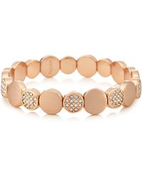 Pilgrim - Rose Gold Plated Crystal 'grace' Bracelet - Lyst