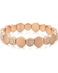 Pilgrim - Rose Gold Plated Crystal 'grace' Bracelet - Lyst