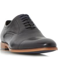 Dune - Black 'padstow' Soft Leather Toecap Oxford Shoes - Lyst