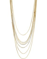 J By Jasper Conran - Designer Gold Crystal Multi Row Necklace - Lyst