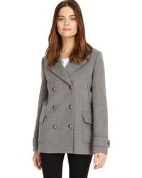 Phase Eight - Grey 'pippa' Pea Coat - Lyst