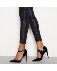 Faith - Black Patent 'chyna' Stiletto Heel Pointed Shoes - Lyst