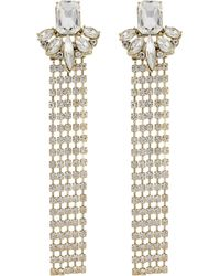 Red Herring - Diamante Statement Drop Earrings - Lyst