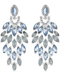 Jenny Packham - Designer Crystal Feather Drop Earrings - Lyst