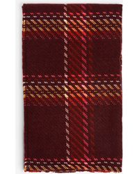 Dorothy Perkins - Burgundy Gradient Check Scarf - Lyst