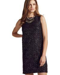 Apricot - Black Foil Sequined Party Dress - Lyst