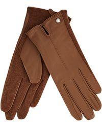 J By Jasper Conran - Tan Leather Gloves - Lyst