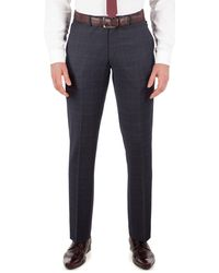 Ben Sherman - Slate Blue Tonal Check Slim Fit Kings Suit Trouser - Lyst