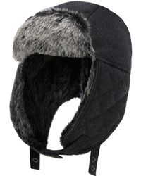 J By Jasper Conran - Grey Quilted 'melton' Trapper Hat - Lyst
