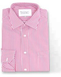 Double Two - Red Striped Single Cuff Pure Cotton Shirt - Lyst