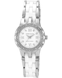 Anne Klein - Ladies Gold Diamante Bezel Bracelet Watch 10/n9457wtsv - Lyst