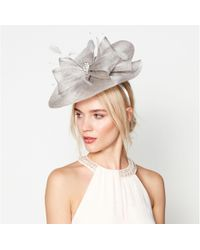 Jenny Packham - Grey Stone Detail Saucer Fascinator - Lyst