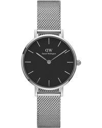 Daniel Wellington - Ladies Silver 'classic Petite Sterling' Analogue Bracelet Watch - Lyst