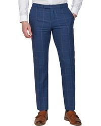 Racing Green - Blue Heritage Tweed Tailored Trousers - Lyst