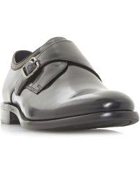 Bertie - Black 'pilcrow' Monk Strap Shoes - Lyst