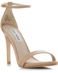 f27adb52ec5 Steve Madden - Natural  stecy  High Stiletto Heel Ankle Strap Sandals - Lyst