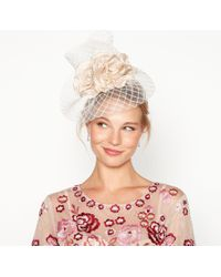 Jenny Packham - Natural Mini Floral Windowpane Fascinator - Lyst