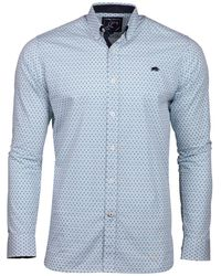 Raging Bull - Big And Tall White Long Sleeve Ditzy Print Shirt - Lyst