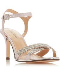 3333fb63e62 Roland Cartier - Pink Glitter  marama  Mid Stiletto Heel Ankle Strap Sandals  - Lyst