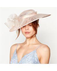 Début Pink Crin Trim Bow Saucer Hat in Pink - Lyst d96a91bb6e33
