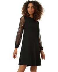 James Lakeland - Black Net Pearl Dress - Lyst