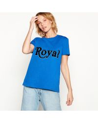 House of Holland - Blue 'royal' Slogan T-shirt - Lyst