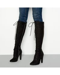 d1e4a119fa New Look Wide Fit Black Suedette Platform Over The Knee Boots in ...
