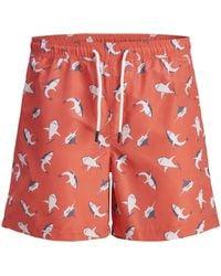42c642f132 Lacoste Men's Coral Print Swim Shorts in Blue for Men - Lyst
