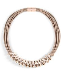 Phase Eight - Natural Aliya Criss Cross Necklace - Lyst