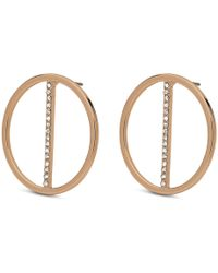 Pilgrim - Rose Gold Plated 'kama' Crystal Earrings - Lyst