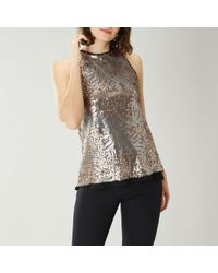 901015280dc923 Gold-Sequin Tops - Women's Gold-Sequin Tops - Lyst