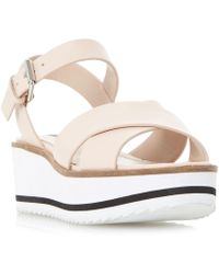 63c1f40ac5b Dune - Natural  kassius  White Eva Shark Sole Flatform Sandals - Lyst