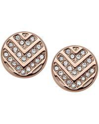 Fossil - Rose Gold 'vintage Glitz' Stud Earrings - Lyst