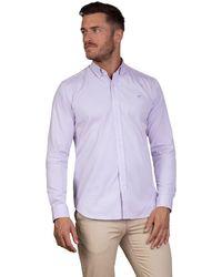 Raging Bull - Purple Long Sleeve Pinpoint Oxford Shirt - Lyst