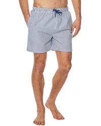 Red Herring - Big And Tall Blue Stripe Print Swim Shorts - Lyst