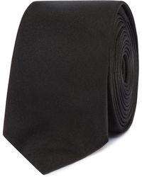Red Herring - Black Plain Skinny Tie - Lyst