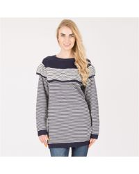 Tenki - Blue Layered Stripy Knitted Jumper - Lyst