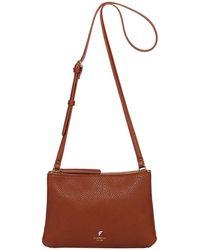 Fiorelli - Tan 'daisy' Double Zip Crossbody Bag - Lyst