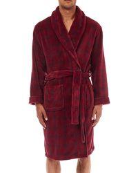 Burton - Burgundy Check Hooded Robe - Lyst