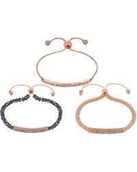 Lipsy - Beaded Toggle Bracelet Pack - Lyst