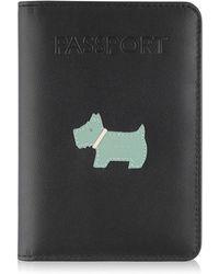 Radley - Heritage Dog Black Passport Cover - Lyst