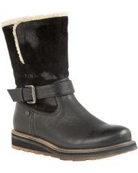 Lotus - Black 'omar' Wedge Heel Calf Boots - Lyst