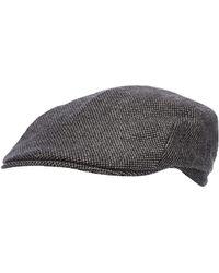 a3da11b4d46 J By Jasper Conran - Grey Textured Flat Cap With Wool - Lyst