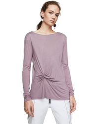 Mango - Purple 'anudado' Long Sleeve T-shirt - Lyst