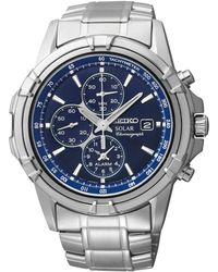 Seiko - Men's Stainless Steel Solar Chronograph Bracelet Watch Ssc141p1 - Lyst