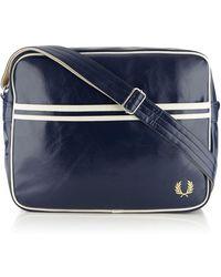 Fred Perry - Navy Zip Shoulder Bag - Lyst