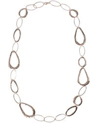 Phase Eight - Rose Gold Amber Necklace - Lyst