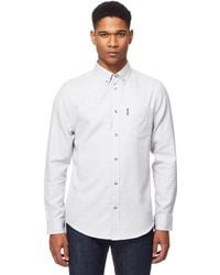 Ben Sherman - White Twisted Stitch Plain Shirt - Lyst