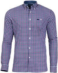 Raging Bull - 3 Purple Colour Cotton Check Shirt - Lyst