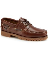 Loake - Brown Leather '522' Boat Shoes - Lyst